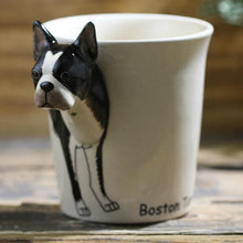 Load image into Gallery viewer, Boston Terrier Love 3D Ceramic CupMug