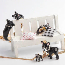 Load image into Gallery viewer, Boston Terrier Love Enamel Jewellery Set - Earrings, Pendant, Ring & BangleJewellery