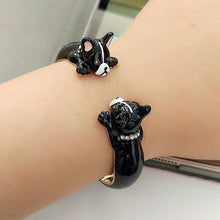 Load image into Gallery viewer, Boston Terrier Love Enamel Jewellery Set - Earrings, Pendant, Ring & BangleJewelleryBangle