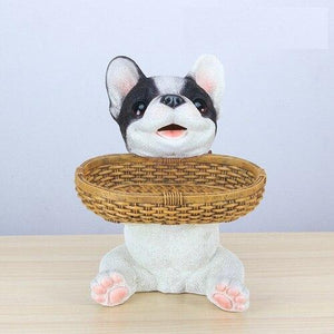 Boston Terrier Love Tabletop Organiser & Piggy Bank StatueHome Decor