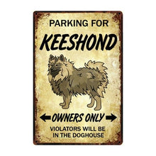 Load image into Gallery viewer, Boxer Love Reserved Parking Sign BoardCarKeeshondOne Size