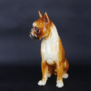 Boxer Love Resin StatueHome Decor