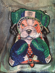 Boxing English Bulldog Embroidered Sew-on PatchPatch