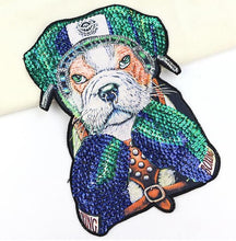 Load image into Gallery viewer, Boxing English Bulldog Embroidered Sew-on PatchApparel