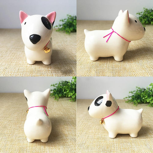 Bull Terrier Love Ceramic Car Dashboard / Office Desk OrnamentHome Decor