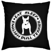 Load image into Gallery viewer, Bull Terrier Love Cushion CoversHome DecorBlackOne Size