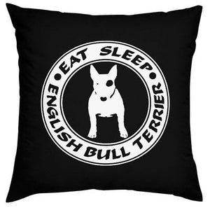 Bull Terrier Love Cushion CoversHome DecorBlackOne Size