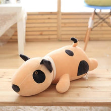 Load image into Gallery viewer, Bull Terrier Love Huggable Stuffed Animal Plush Toy PillowHome DecorMediumDark Khaki