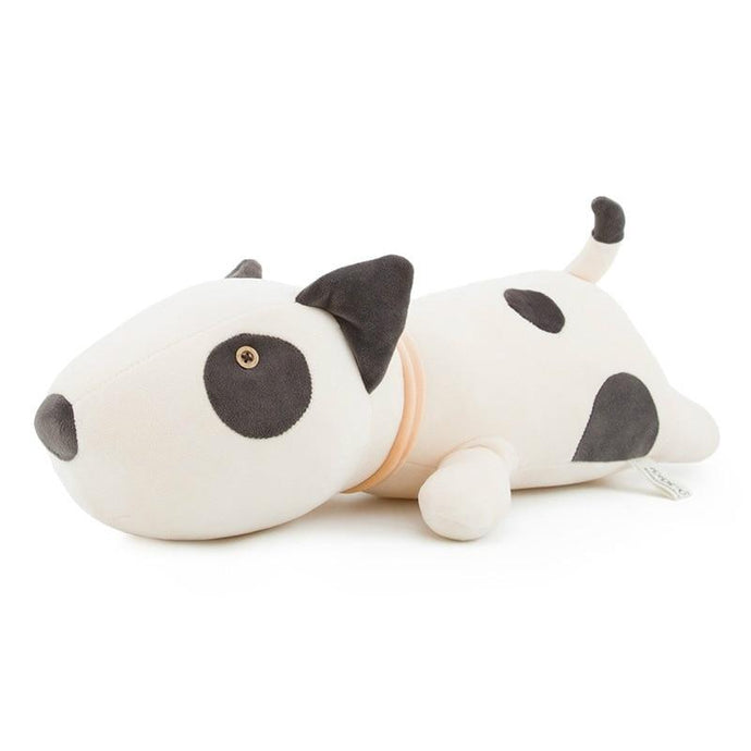 Bull Terrier Love Huggable Stuffed Animal Plush Toy PillowHome DecorMediumWhite