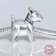 Load image into Gallery viewer, Bull Terrier Love Silver Charm BeadPendant