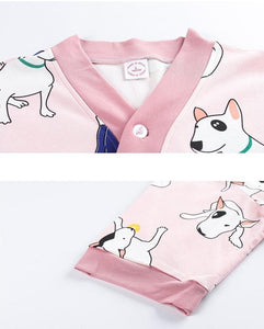 Bull Terrier Love Summer Cotton Pajamas SetPajamas