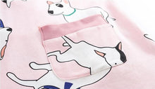Load image into Gallery viewer, Bull Terrier Love Summer Cotton Pajamas SetPajamas