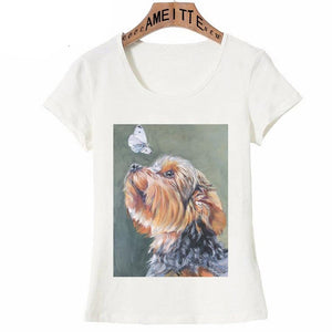 Butterfly Yorkshire Terrier Love Womens T ShirtApparel