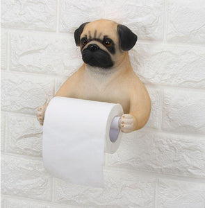 Cat and English Bulldog Love Toilet Roll HolderHome Decor