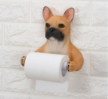 Load image into Gallery viewer, Cat and English Bulldog Love Toilet Roll HolderHome Decor