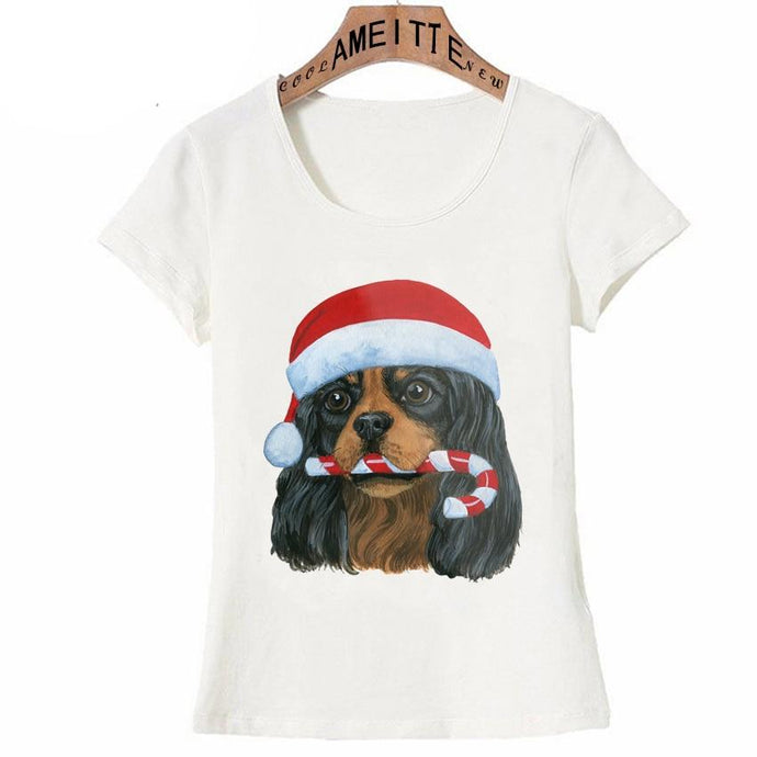 Cavalier King Charles Spaniel Christmas Womens T ShirtApparel