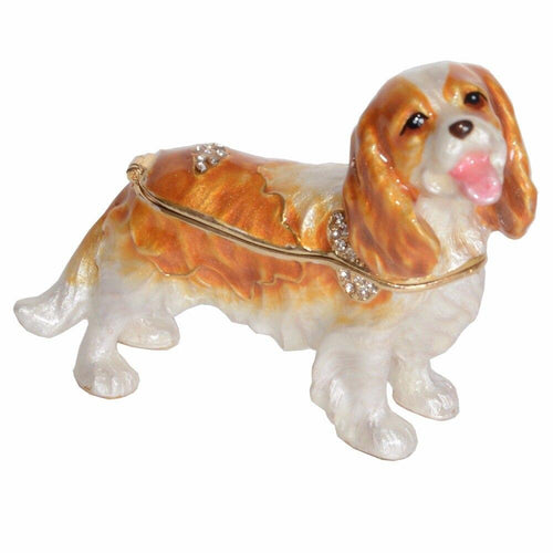 Cavalier King Charles Spaniel Love Small Jewellery Box FigurineHome Decor