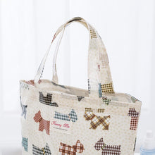 Load image into Gallery viewer, Checkered Schnauzer Love Cotton Tote BagAccessories