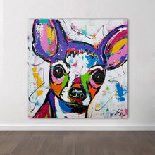 Load image into Gallery viewer, Chihuahua Love Modern Abstract Canvas Print PaintingHome Decor