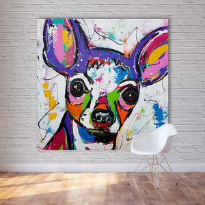 Chihuahua Love Modern Abstract Canvas Print PaintingHome Decor