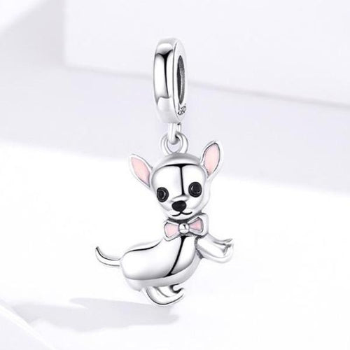 Chihuahua Love Silver PendantDog Themed Jewellery