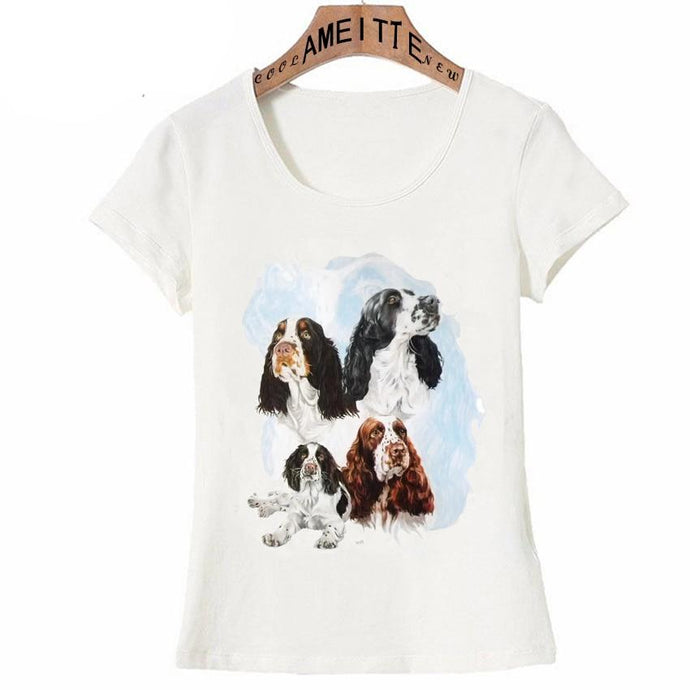 Cocker Spaniel Love Womens T ShirtApparel