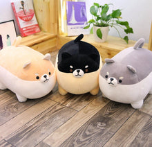 Load image into Gallery viewer, Cocktail Sausage Black and Tan Shiba Inu Stuffed Plush Toy PillowHome Decor