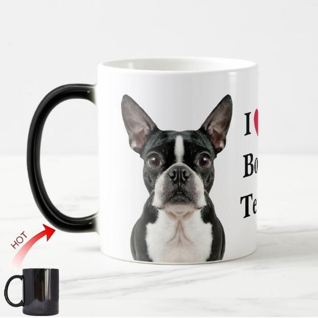 Color Changing Boston Terrier Love Coffee MugMugDefault Title