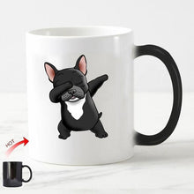 Load image into Gallery viewer, Color Changing Dabbing Pug Coffee MugMugBlack Frenchie11oz