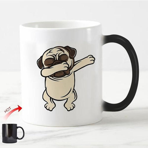 Color Changing Dabbing Pug Coffee MugMugPug11oz