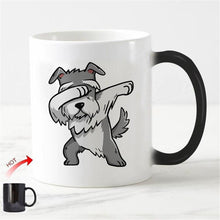 Load image into Gallery viewer, Color Changing Dabbing Schnauzer Coffee MugMug