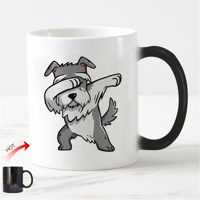 Color Changing Dabbing Schnauzer Coffee MugMug