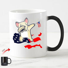 Load image into Gallery viewer, Color Changing French Bulldog Coffee MugsMugAll American Frenchie11oz