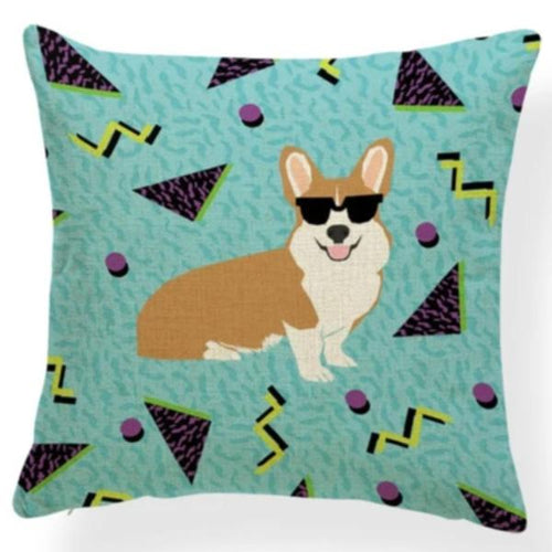 Corgi in Bloom Cushion Cover - Series 7Cushion CoverOne SizeCorgi - with Shades