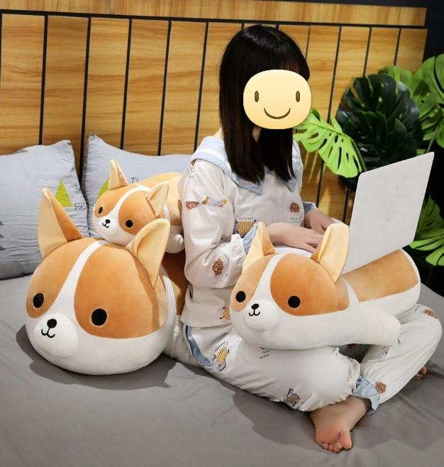 Corgi Love Huggable Stuffed Animal Plush Toy Pillows (Small to Giant Size)Soft Toy