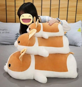 Corgi Love Huggable Stuffed Animal Plush Toy Pillows (Small to Giant Size)Soft ToySmall