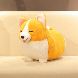 Corgis in a Row Stuffed Animal Plush Toys (Small to Giant Size)Soft ToySmallCorgi with Eyes Closed