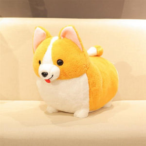 Corgis in a Row Stuffed Animal Plush Toys (Small to Giant Size)Soft ToySmallCorgi with Eyes Open