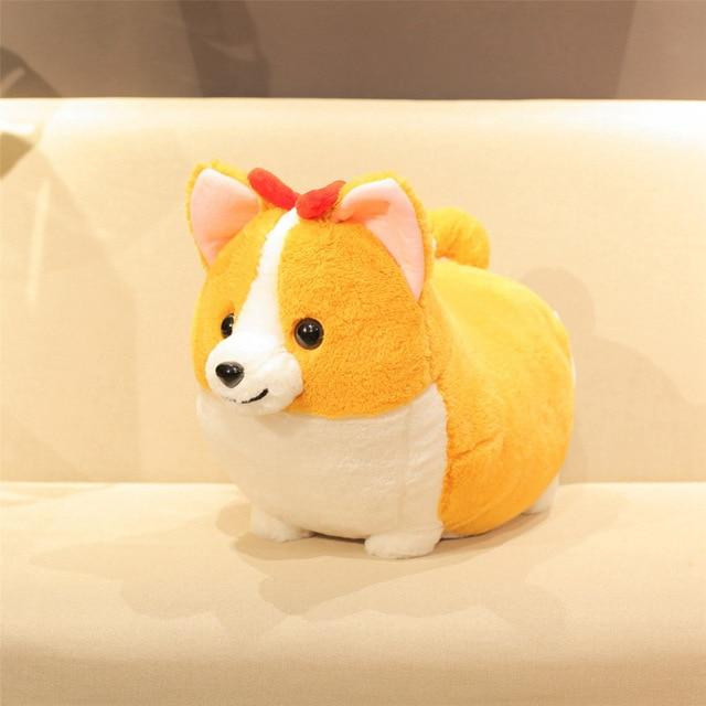 Corgis in a Row Stuffed Animal Plush Toys (Small to Giant Size)Soft ToySmallGirl Corgi with Bow