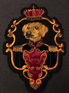 Crown Dog Embroidered Sew On PatchPatch