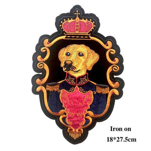 Crown Labrador Embroidered Sew On PatchApparelIron On