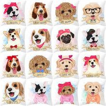 Load image into Gallery viewer, Cute as Candy Golden Retrievers Cushion CoversCushion Cover