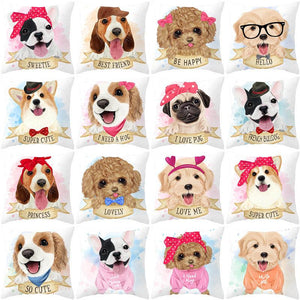 Cute as Candy Golden Retrievers Cushion CoversCushion Cover