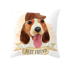 Load image into Gallery viewer, Cute as Candy Golden Retrievers Cushion CoversCushion CoverBeagle - Baseball Hat
