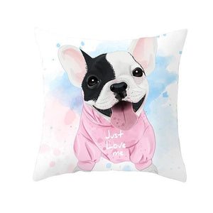 Cute as Candy Golden Retrievers Cushion CoversCushion CoverFrench Bulldog - Pink Hoody