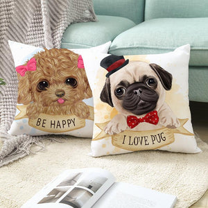 Cute as Candy Pugs Cushion CoversCushion Cover