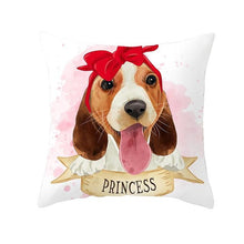 Load image into Gallery viewer, Cute as Candy Pugs Cushion CoversCushion CoverBeagle - Red Headscarf