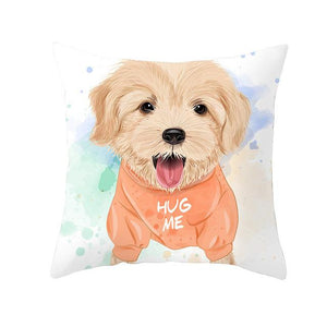 Cute as Candy Pugs Cushion CoversCushion CoverGolden Retriever - Orange Hoody