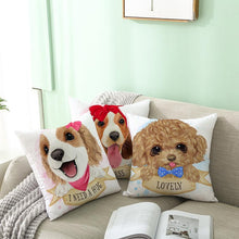 Load image into Gallery viewer, Cute as Candy Toy Poodle Cushion CoversCushion Cover