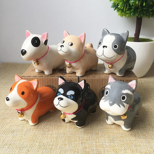 Cute Ceramic Car Dashboard / Office Desk Ornament for Dog LoversHome Decor